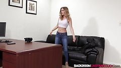 Hottie Scarlett riding big cock anal first time and creampie