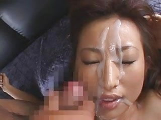 Small titted japanese fucked and given excellent facial
