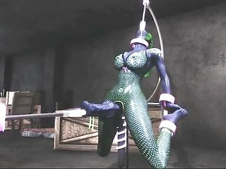 3D futa hentai virtual fuck cock machine and now real