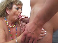 Granny gets taboo sex with horny young boy