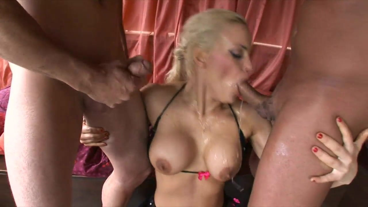 Blonde whore's cunt is dripping and ready for a fuck