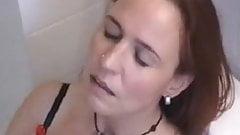 Cute german MILF masturbating on toilet