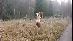 Krista In Winter Public Nudity