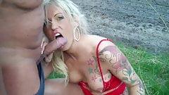 Shameless MILF Enjoying Hot Sex with Neighbor Outdoor