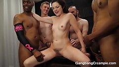 New girl Petra Fucks the whole Gang