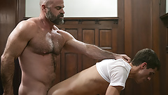Furry Priest Shoots A Gooey Load In A Missionary Boy's Butt