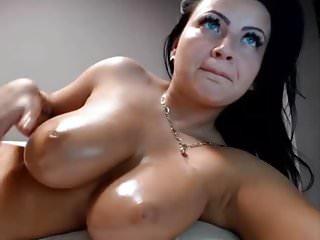 Perfect brunette babe masturbating on webcam