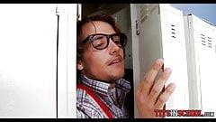 Perving in the School locker r