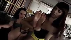 Mistress and two slaves's Thumb
