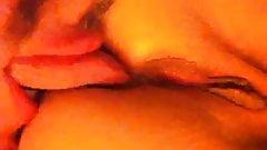 licking my gf's sweet hairless ass