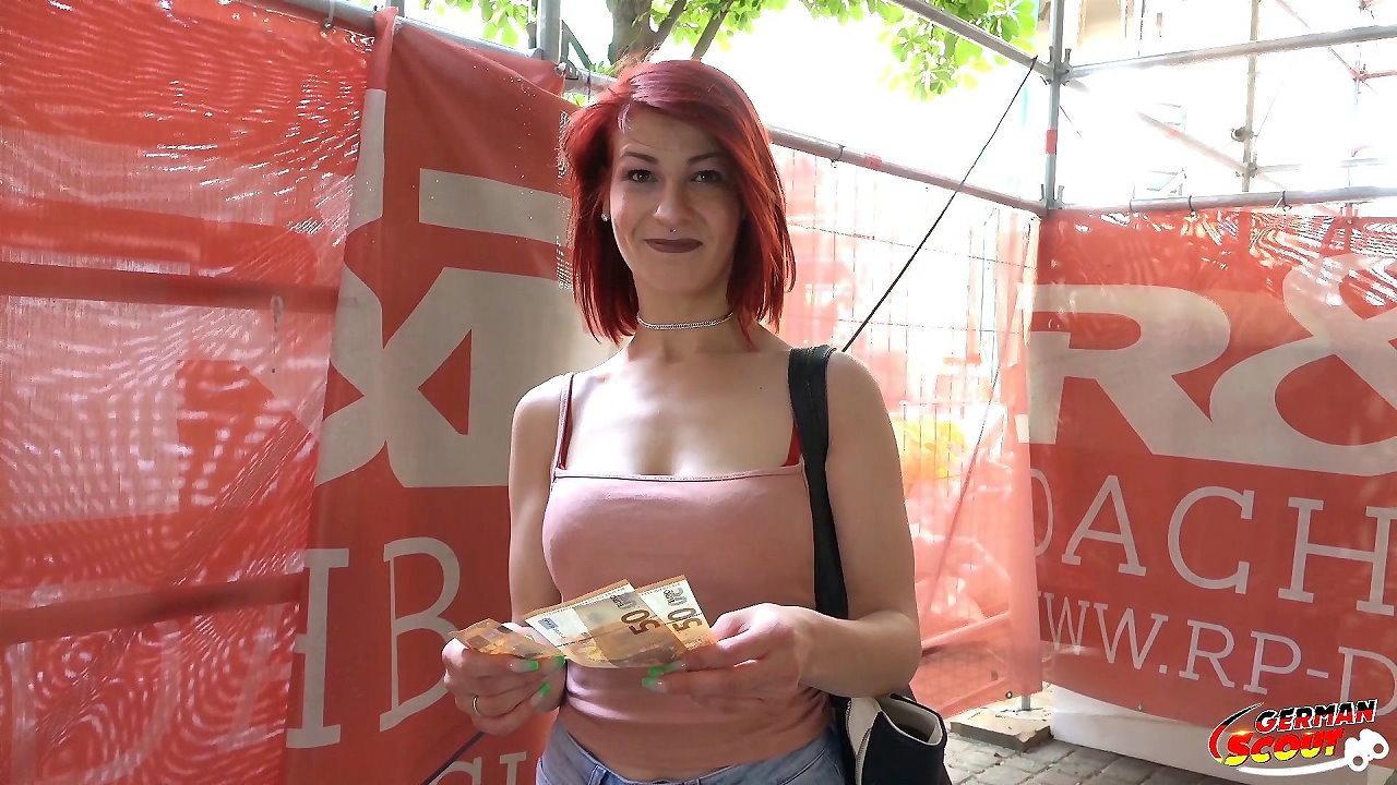 GERMAN SCOUT – Redhead School Teen Jenny Fuck at Casting