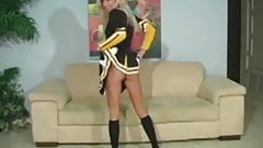 Cheerleader Kacey gives JO instructions