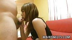 Mature Japanese Rina Tachikawa exposing her hairy cunt