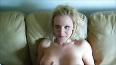 Sexy Blonde GF Sucks and Fucks