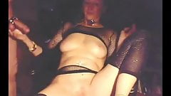 Check My MILF granny in fishnet stockings playing with pussy's Thumb