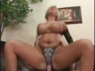 Blonde Milf With Huge Tits In Fishnets Sm