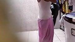 Madurai young hot tamil girl dress change taken by hiddencam