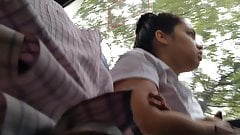 Cock out in bus