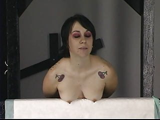 Clit electricity clamp needles - Young tattooed brunette gets her nips and tits tortured with needle play