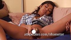Cute Latina Babe Ruby Rayes Masturbates with a Vibrator