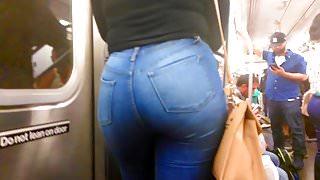 Nice Ebony Teen Ass in Jeans