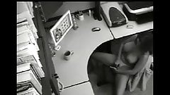 busty secretary caught masturbate by security cam