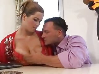 Terry Nova with soft huge tits fucks in kitchen