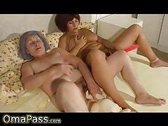 OmaPasS Chubby Grandma Lesbian Sex Footage