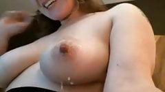 Milk dripping nipples on cock tease girl