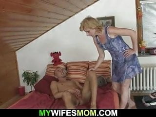 Blonde Mother In Law Bengs Over