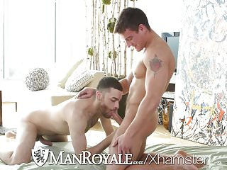 ManRoyale After outdoor workout fuck with Jordan Boss & Hugo