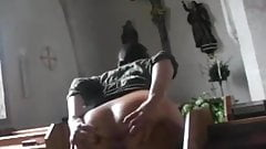 flashing in public church-crazy girl