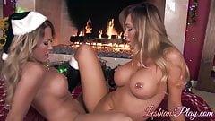 Busty babes Capri Cavanni and Destiny Dixon eating pussies