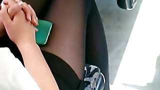 candid polish sexy teen legs pantyhose