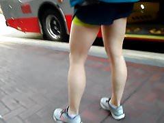 BootyCruise: Downtown Bus Stop Leggy Honey Part 1