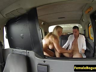 Preview 3 of Busty taxi driver doggystyled in cab