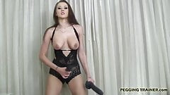 Dont be afraid of my big black rubber cock