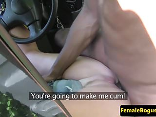Preview 6 of Busty british cabbie doggystyle by black guy