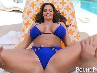 Busty MILF stepmom Ava Addams rides huge cock in POV