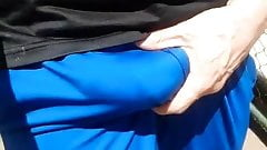 ANOTHER PUBLIC WALK STREET BULGE BLUE PANTS THICK DICK