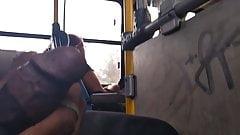 Flashing dick in bus 15