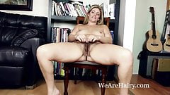 Alicia Silver masturbates after reading a hot book