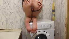 Russian teen masturbate in bathroom
