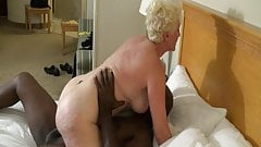 Blonde Mature Rides Big Black Dick