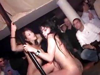 french night club going wild
