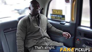 Slutty cabbie Carmel Anderson rides BBC for some extra cash