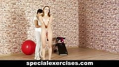 Naked training for submissive teen girl