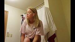 SNOOPY films herself best gf hidden spy cam shower UNAWARE
