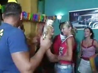 Blonde teen gets a big birthday surprise