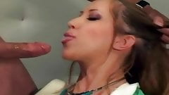 Sexy nurse anal in latex gloves and stockings